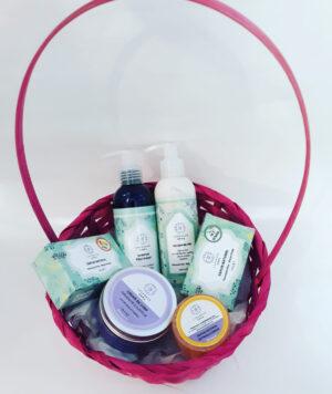 Set cadou de ingrijire naturala pentru par si corp